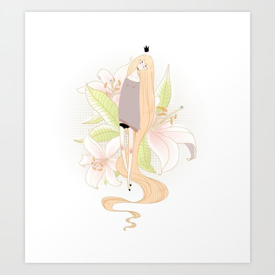 Rapunzel 2 Art Print