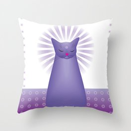 Milk Bottle Cat : Zen Throw Pillow