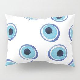 Evil Eye Watercolor Pattern (Mati) Pillow Sham