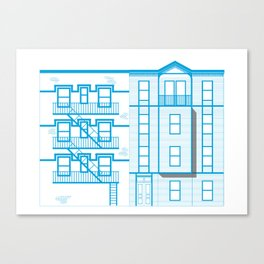 Buildings - nyc vs istanbul Canvas Print