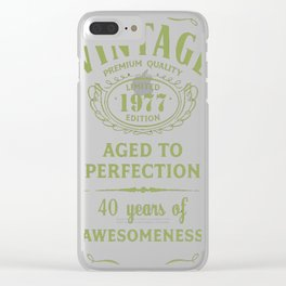 Green-Vintage-Limited-1977-Edition---40th-Birthday-Gift Clear iPhone Case