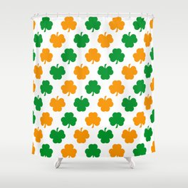 Irish Shamrocks Shower Curtain