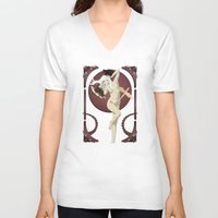 mother of dragons V-neck T-shirts featuring Dragons  by Andrew Formosa