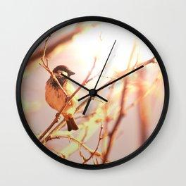 Morning sparrow Wall Clock