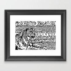 Tiger Dreams Framed Art Print