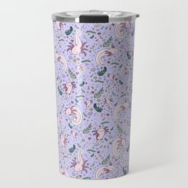 Axolotl Pattern Travel Mug