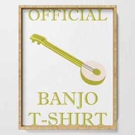 Awesome Banjo's Tshirt Design Official Banjo Tshirt Serving Tray