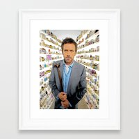 house md Framed Art Prints featuring House MD - Colored Pencil Sketch Style by ElvisTR