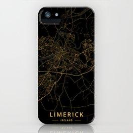 Limerick, Ireland - Gold iPhone Case