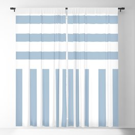 Powder Blue Direct Stripe Blackout Curtain