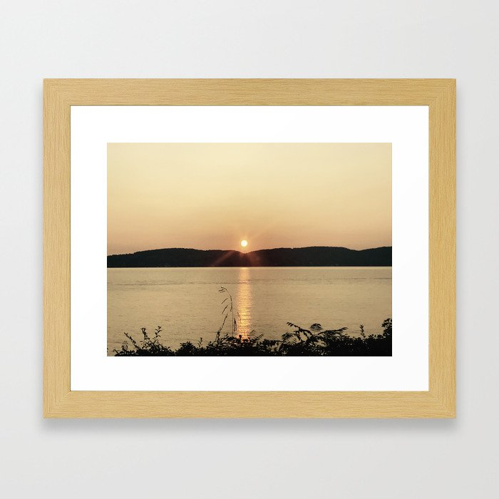 Hudson Sunset Framed Art Print