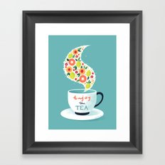 Enjoy the Tea Framed Art Print