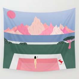 Poolside Views Wall Tapestry