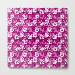Swanky Mo Pink Metal Print