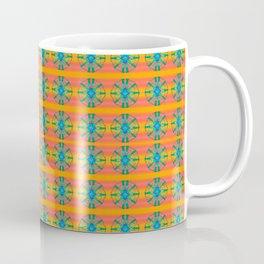 Mandala Pattern Orange and Teal Coffee Mug