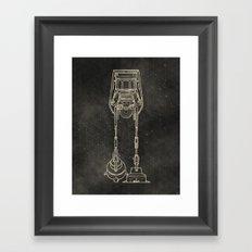 AT-AT Framed Art Print