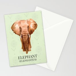 Elephant in Watercolour Stationery Cards