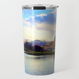 Four Seasons in One Day over Ben Nevis Travel Mug