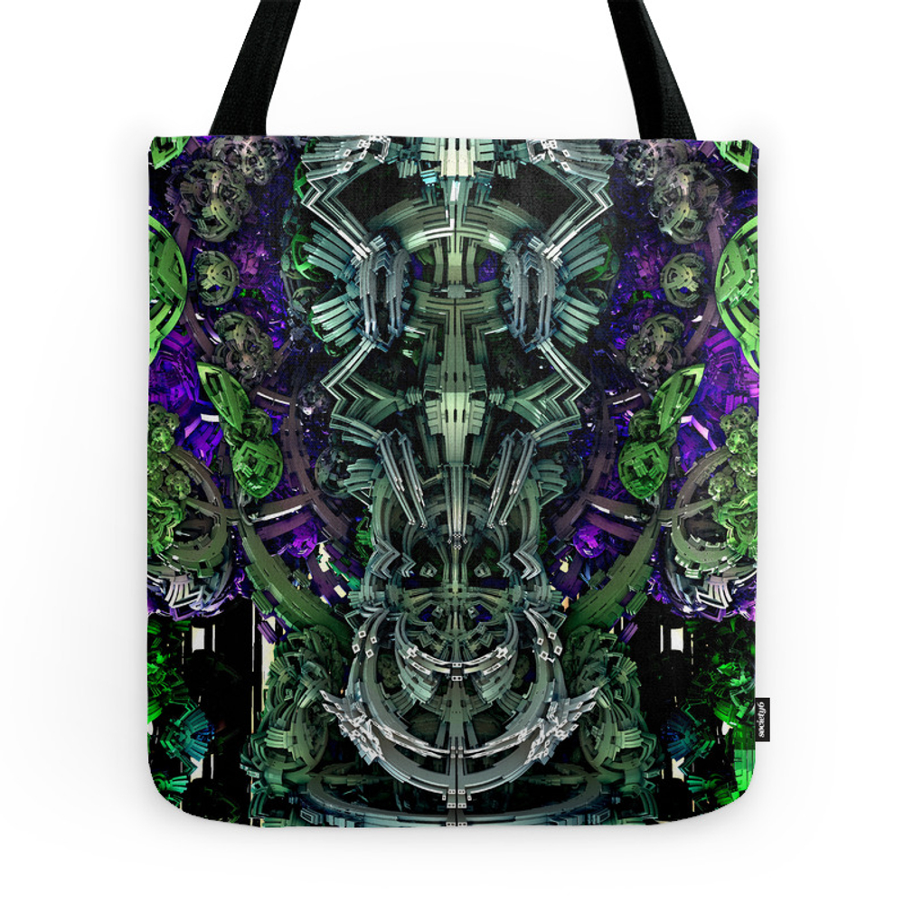 Exoskeleton Green Tote Purse by jasonpodmoreart (TBG7570690) photo