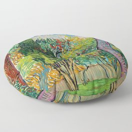 "Vincent van Gogh ""Parc de l'hôpital Saint-Paul"" Floor Pillow"