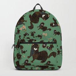 Shy european mink pattern Backpack