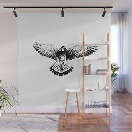 Kestrel flapping its wings Wall Mural