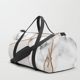Copper smokey marble geo Duffle Bag