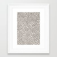 yellow pattern Framed Art Prints featuring A Lot of Cats by Kitten Rain