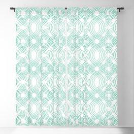 Celtic Knot pattern White Blackout Curtain