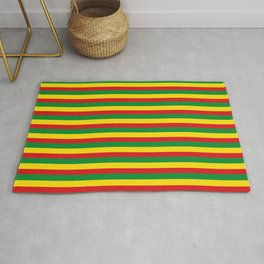 colorful rasta stripe pattern design Rug