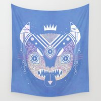 demon Wall Tapestries featuring Sky Demon by LordofMasks