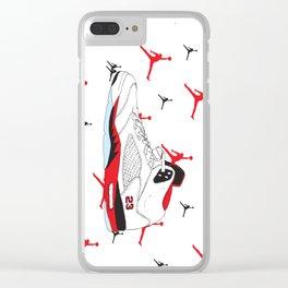 Jordan 5 Fire Red Clear iPhone Case