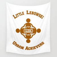 big lebowski Wall Tapestries featuring Little Lebowski Urban Achievers  |  The Big Lebowski by Silvio Ledbetter