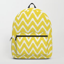 Butter Yellow Southern Cottage Ikat Chevrons Backpack