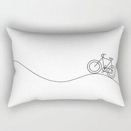 Bike on rolling hills Rectangular Pillow