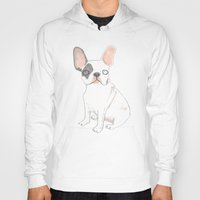 french bulldog Hoodies featuring French Bulldog by jo clark