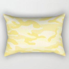 light Yellow Military Camouflage Pattern Rectangular Pillow