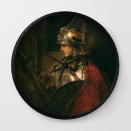 Rembrandt Harmenszoon van Rijn Alexander the Great (Man in Armour) 1658 Wall Clock