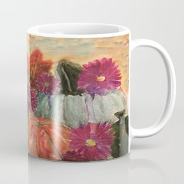 Pumpkins and Flowers Coffee Mug