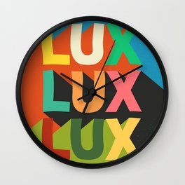 Posh Deluxe Text Wall Clock