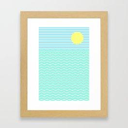 Coastline (Sunrise Blue) Framed Art Print