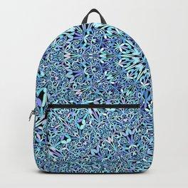 Light Blue Floral Life Mandala Backpack