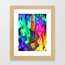 Fusion Keyblade Guitar #194 - Eternal Flame & Combined Keyblade Framed Art Print