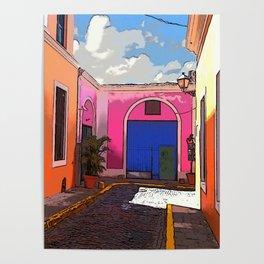 Old San Juan Ally Poster