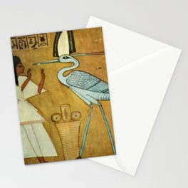4. Ancient -       Egyptian Wall Paintings 1956, How to change oneself into a Phoenix Stationery Cards