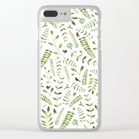 The Birds and the Leaves Clear iPhone Case