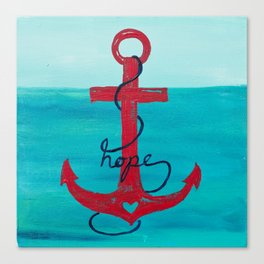 Anchored in Hope Canvas Print