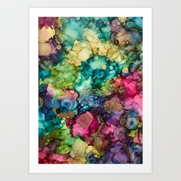Abstract Design of Explosive Colors Art Print