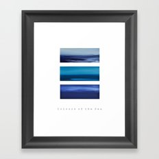 Colours of the Sea Framed Art Print
