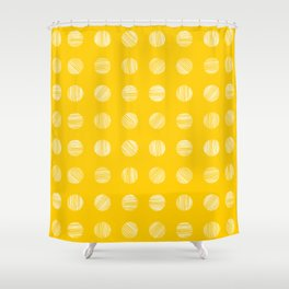 Scratched Little Dots (Yellow) Shower Curtain
